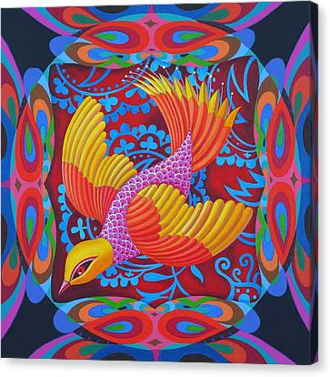 Firey-tailed Flier Canvas Print by Jane Tattersfield