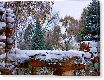 First Colorful Autumn Snow Canvas Print by James BO  Insogna
