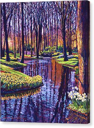 First Days Of Spring Canvas Print by David Lloyd Glover