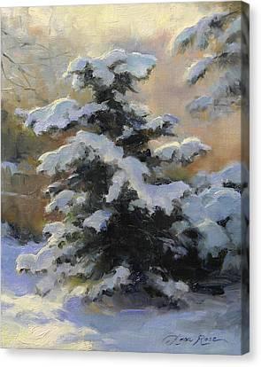 First Heavy Snow Canvas Print by Anna Rose Bain