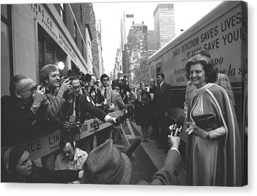 First Lady Betty Ford Became An Canvas Print by Everett