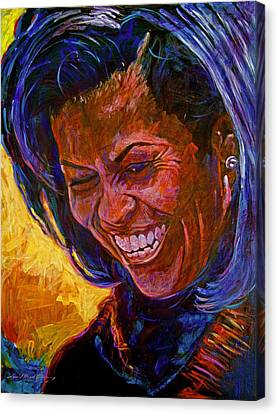 First Lady Michele Obama Canvas Print by David Lloyd Glover
