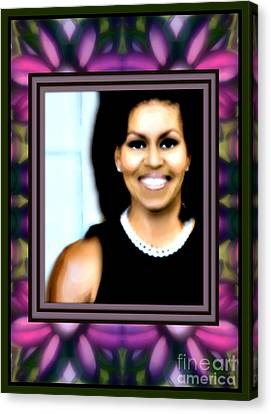 First Lady Michele Canvas Print by Wbk