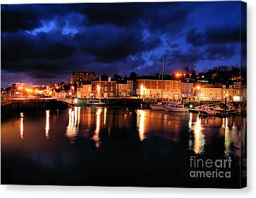 First Light At Padstow Canvas Print by Carl Whitfield
