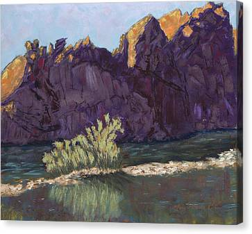 First Light At Picnic Rock Canvas Print by Mary Benke