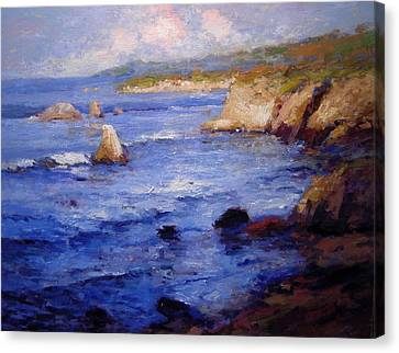 First Light At Shell Beach Canvas Print by R W Goetting