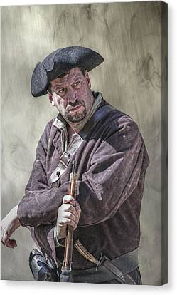 First Line Of Defense The Frontiersman Canvas Print by Randy Steele