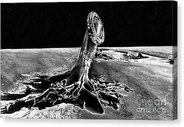 First Men On The Moon Canvas Print by David Lee Thompson