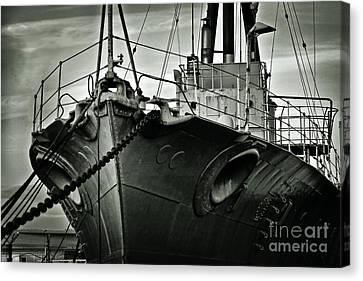 First Of Her Class. Last Of The Fleet Canvas Print by Chris Cardwell