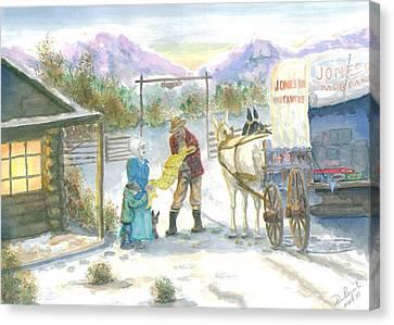 First Snow - Last Call Canvas Print by Dan Bozich