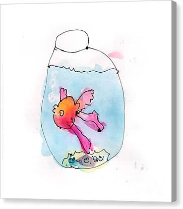 Fish Canvas Print by Adeline Longstreth Age Six