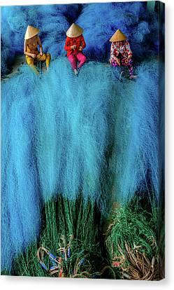 Fish-net-worker Canvas Print by Okan YILMAZ