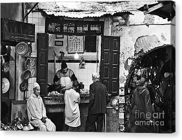 Fish Shop Canvas Print by Marion Galt
