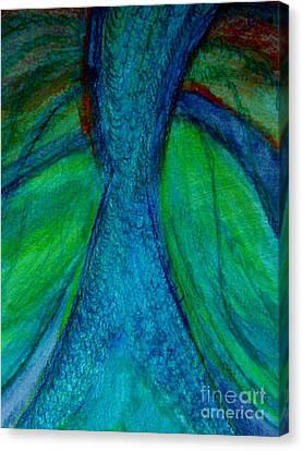 Fish Tail Canvas Print by Stephanie Zelaya