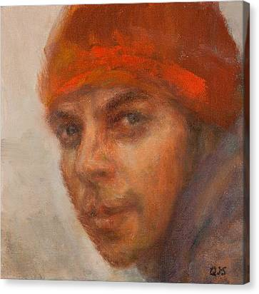 Dreamer Impressionist Painting Portrait Canvas Print by Quin Sweetman