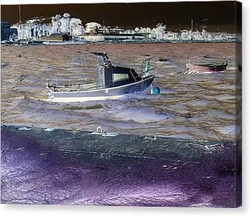Fisherman Boat. Canvas Print by Benny Blitzblau