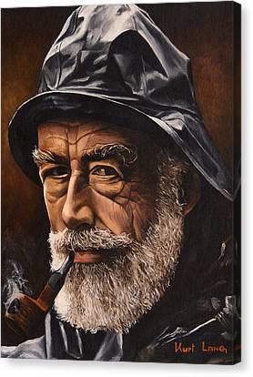 Fisherman By Kurt Lang Canvas Print by Michael Lang