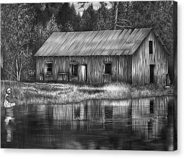 Fisherman Canvas Print by Jerry Winick