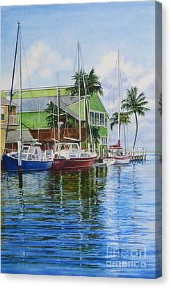 Fisherman's Village Canvas Print by Karol Wyckoff