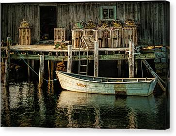 Fisherman's Wharf At Peggy's Cove Canvas Print by Randall Nyhof