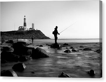 Fishermen's Heart Canvas Print by Bernard Chen