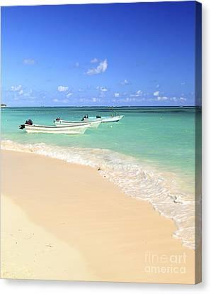 Fishing Boats In Caribbean Sea Canvas Print by Elena Elisseeva