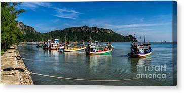 Fishing Harbour Canvas Print by Adrian Evans