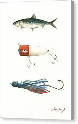 Fishing Lures Canvas Print by Juan Bosco