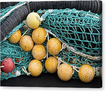 Fishnet Floats Canvas Print by Carol Leigh