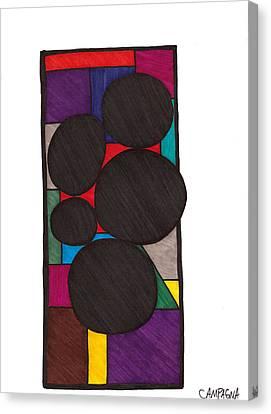 Five Dark Discs Canvas Print by Teddy Campagna