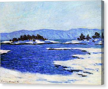 Fjord At Christiania Canvas Print by Claude Monet