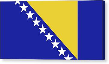 Flag Of Bosnia And Herzegovina Canvas Print by Roy Pedersen
