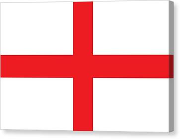 Flag Of England Canvas Print by English School