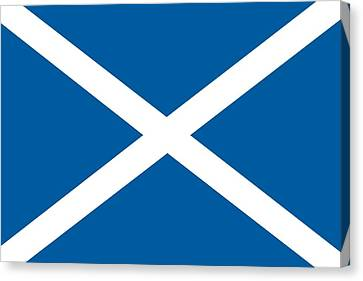 Flag Of Scotland Canvas Print by Unknown