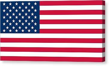 Flag Of The United States Of America Canvas Print by American School