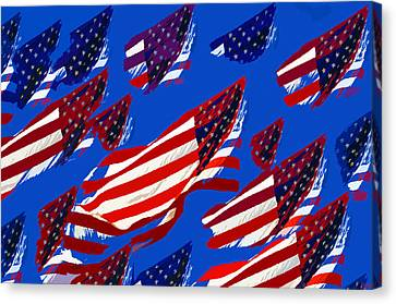 Flags American Canvas Print by David Lee Thompson