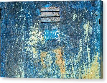 Flaking Paint On Metal With Grill Vent Canvas Print by John Williams