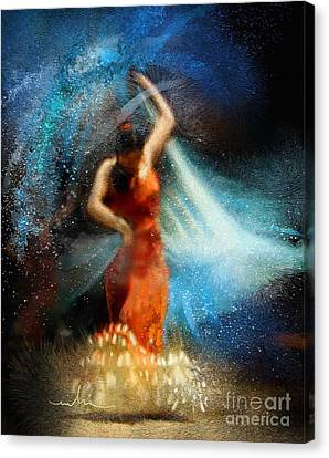 Flamencoscape 05 Canvas Print by Miki De Goodaboom