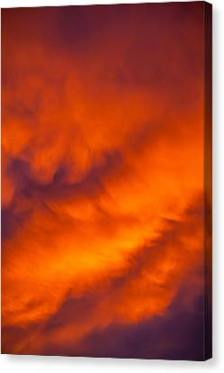Flaming Skies Canvas Print by Az Jackson