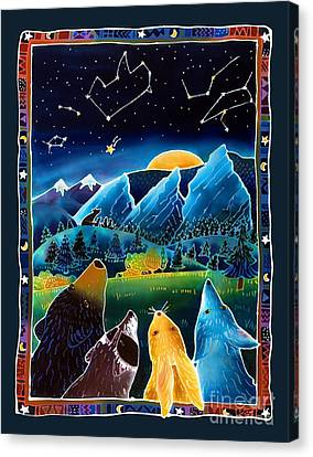 Flatirons Stargazing Canvas Print by Harriet Peck Taylor