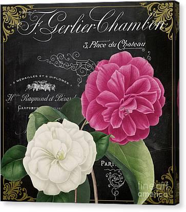 Fleur Du Jour Camellias Canvas Print by Mindy Sommers