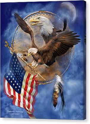 Flight For Freedom Canvas Print by Carol Cavalaris