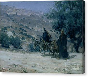 Flight Into Egypt Canvas Print by Henry Ossawa Tanner