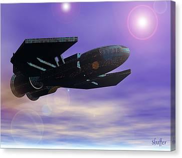 Flight Of The 501st Phoenix Canvas Print by Curtiss Shaffer