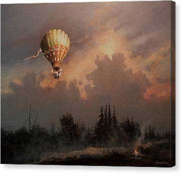 Flight Of The Swan 3 Canvas Print by Tom Shropshire