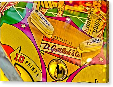 Flip It - Pinball Canvas Print by Colleen Kammerer