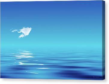 Floating Cloud Canvas Print by Wim Lanclus