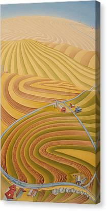 Floating Over Fields II Canvas Print by Scott Kirby