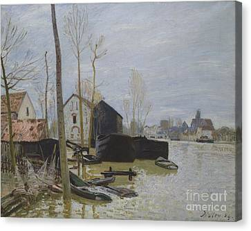 Flooding At Moret Canvas Print by MotionAge Designs