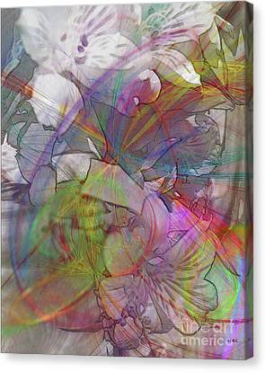Floral Fantasy Canvas Print by John Robert Beck